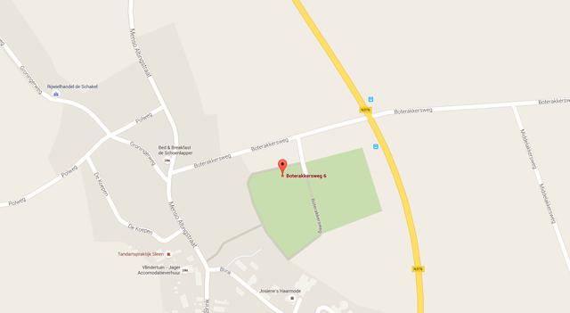 Lokatie van Uitvaartcentrum Sleen